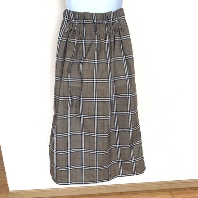 マジェスティックレゴン  チェックキリカエIラインスカート