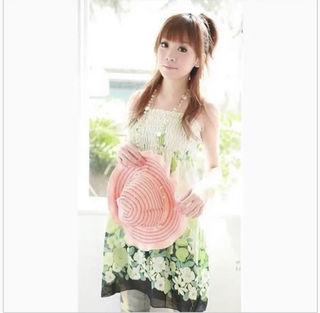 小花柄ワンピース□レディース/ドレス (M)