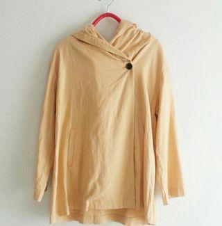 + SM2 麻レーヨンフードジャケットコート