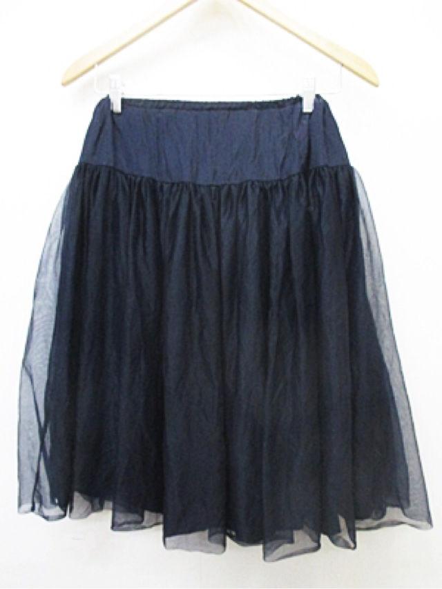 ダズリン dazzlin プリーツスカート リボン装飾