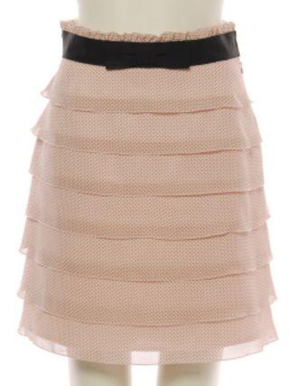 新品レッセパッセドットピンクスカート