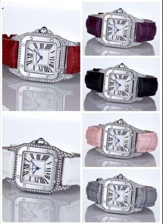 多色入 Cartier 腕時計 バンドレザー 2-69