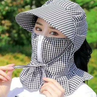【新品】UVカット 日焼け防止 ツバ広帽子 日除け キャップ