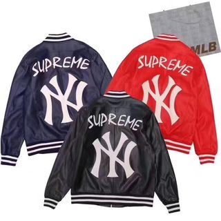 Sup×MLB定番人気 ファッションの革ジャケットセレブ愛着
