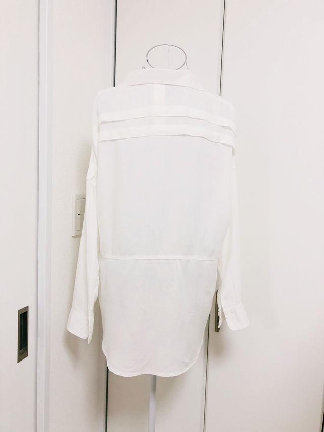 MURUA長袖シャツ、新品、白、ゆったり、訳あり品