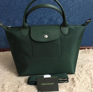 Longchamp ネオ ハンドバッグ S グリーン