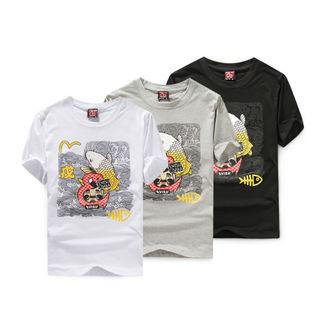 エビス 半袖  Tシャツ  夏の新品 3色可選