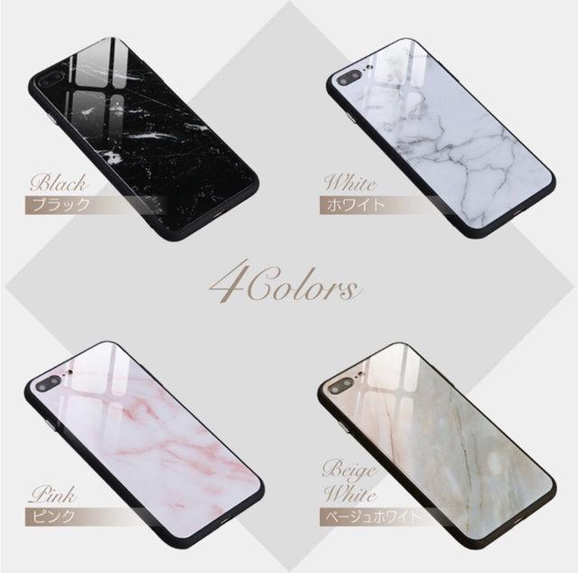 iPhoneケース 大理石柄 4色