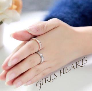 7号ピンクゴールドスーパーCZダイヤフルエタニティリング指輪