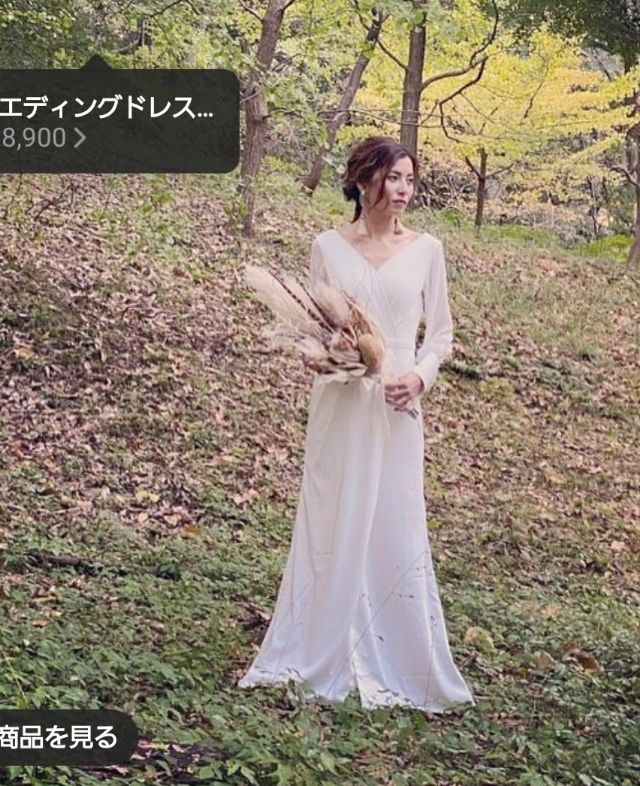 ウェディングドレス前撮りカジュアル結婚式セカンドドレス花嫁