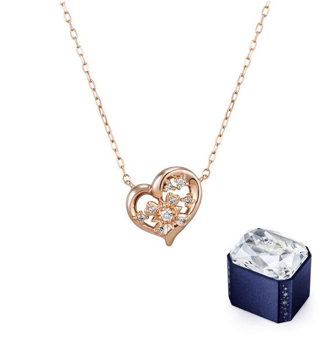 【クリスマス限定】ダイヤモンドK10ピンクゴールドネックレス