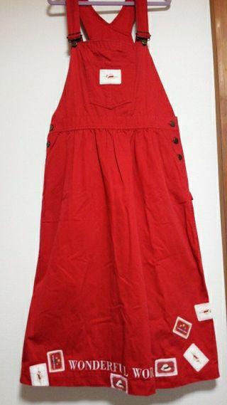ピンクハウス(ワンダフルワールド)ジャンバースカート