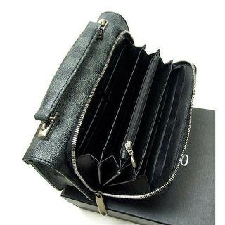 黒チェック柄ミニセカンドバッグ