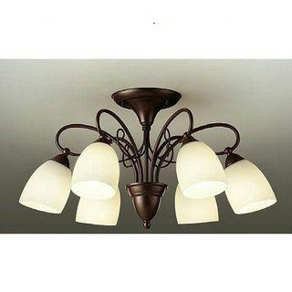 シャンデリア 6灯 LED ブラック 天井照明 照明器具