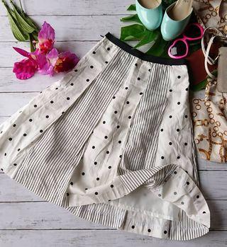 新品!OLIVE 日本製×ストライプ×ドット綿生地スカート