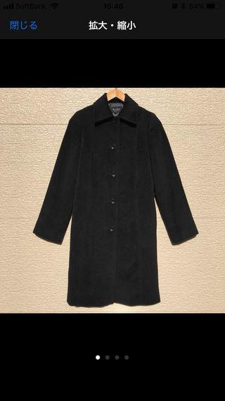 M-PREMIER コート 38 黒 ブラック