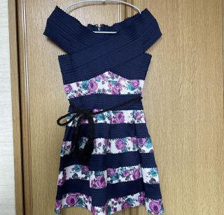 美品 ワンピース  スカート  花柄 オフショル  キャバ