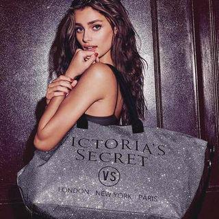 Victoria's secret なバイカラートートバッグ