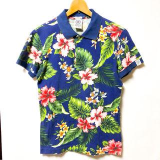 フランクリンマーシャル フラワープリント ポロシャツ S