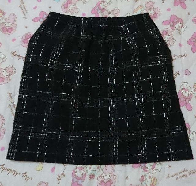 バック ファーポケット チェック柄スカート