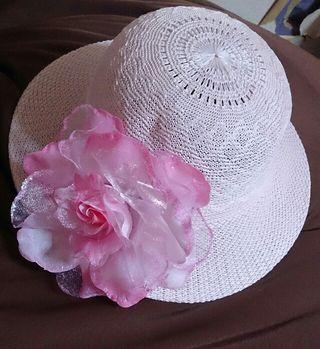 麦わら帽子子供用  ピンク