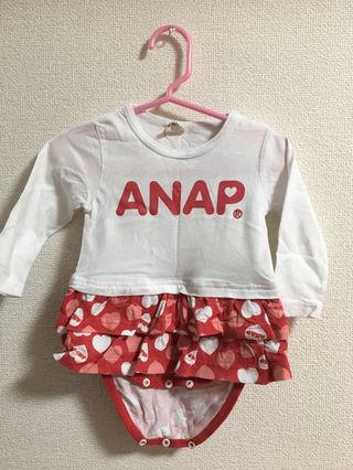 子供服 ロンパース スカート ANAP anapkids