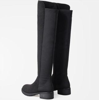レディース ロングブーツ ブラック 婦人靴