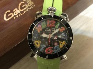 ガガミラノメンズ クォーツ ラバーバンド 腕時計/付属品