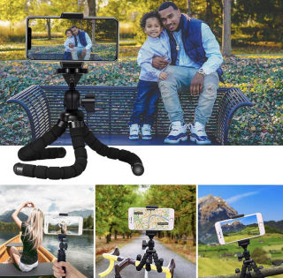 新品ミニ三脚自由自在スマホ携帯超軽量 卓上三脚 自撮り 撮影