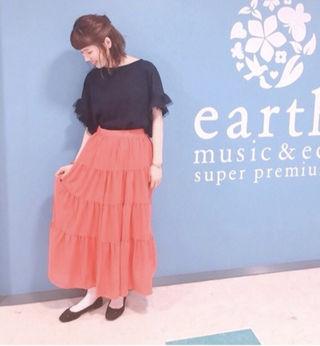 【送料無料】ティアードマキシスカート