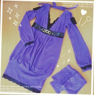 ゴールズインフィニティーワンピース紫