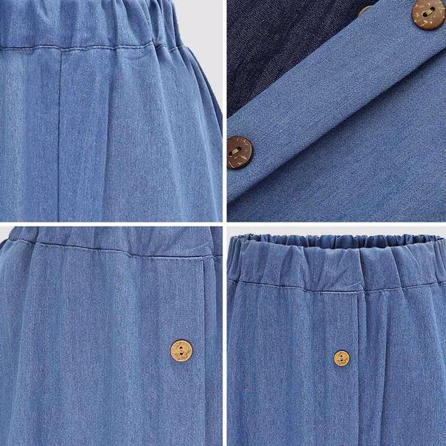 膝丈フレアスカート