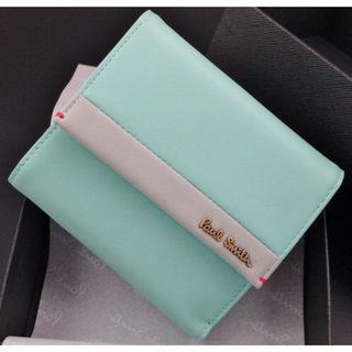 新品箱付 ポールスミス 人気カラーブロック 折り財布