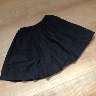 【120cm】コムサイズム スカート ブラック