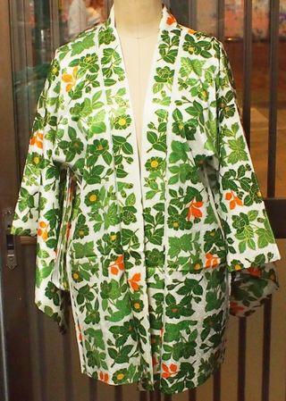 昭和レトロ 牡丹模様 羽織 和装 アンティーク 着物