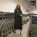 ブラック ジャンパースカート ワンピース サロペット