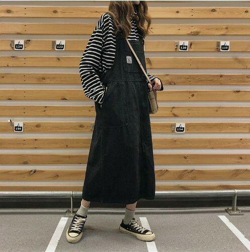 ブラック ジャンパースカート ワンピース サロペット - フリマアプリ&サイトShoppies[ショッピーズ]