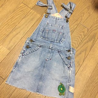 オーバーオールスカート