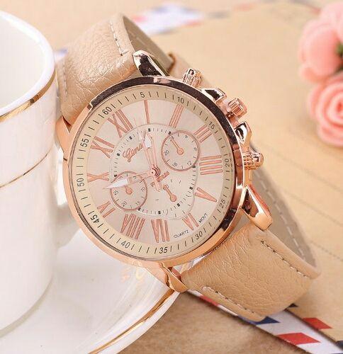 PU レザー クォーツ 腕時計 レディース シンプル 高級感