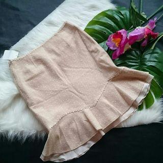 新品!タグ付き!レッセパッセフリルチュール付きスカート