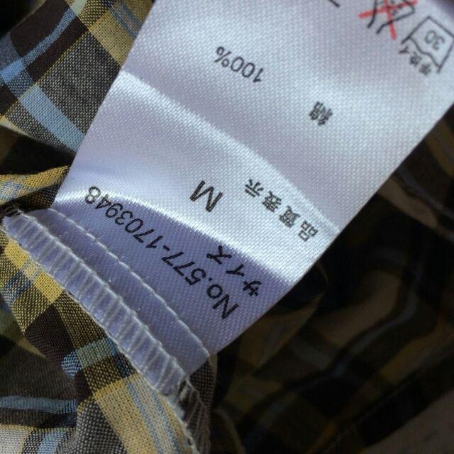techichiフリルつき×チェック薄手ノースリーブシャツ
