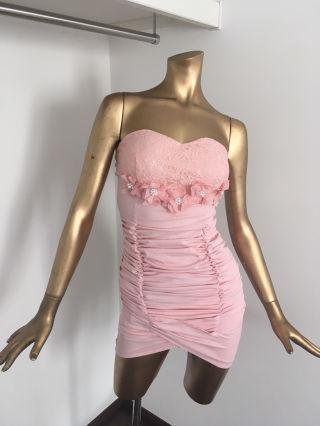 【JESSICA.J】フラワーピンクミニドレス/韓国ドレス