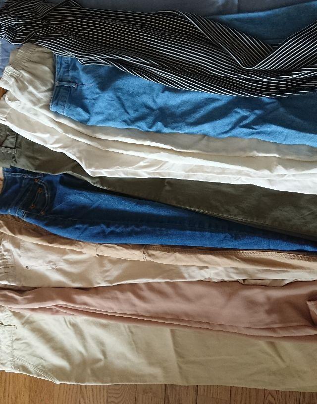 ジーンズ、ワイドパンツセット、コムサ布巾3枚 - フリマアプリ&サイトShoppies[ショッピーズ]