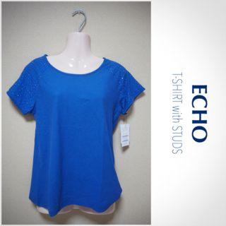 【ECHO】新品 スタッズ付きTシャツ