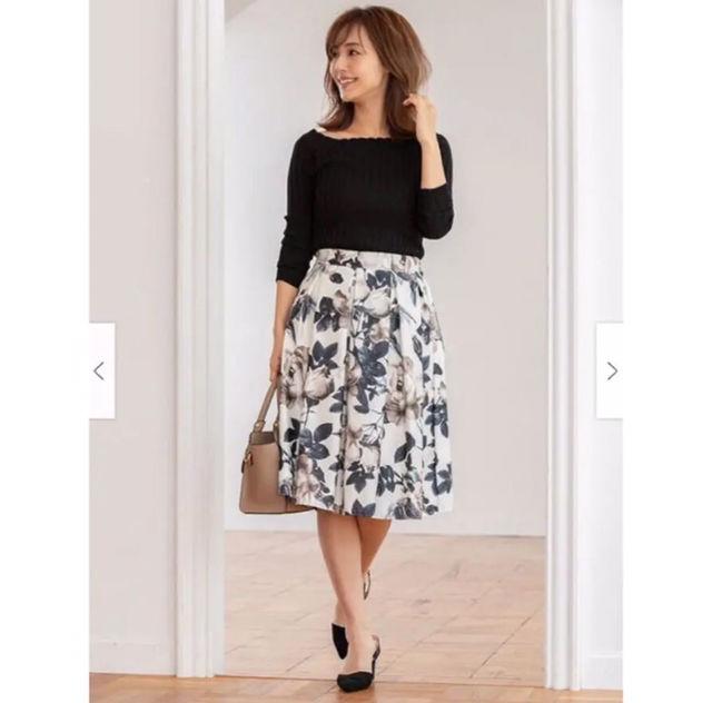 【新品未使用】花柄スカート