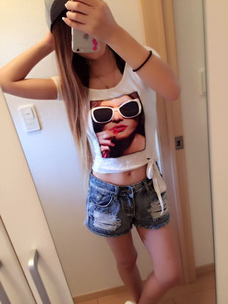 GIRLプリントTシャツ