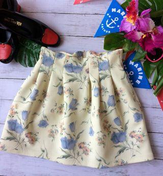 美品!dazzlinチューリップ×花柄ハイウエストスカート