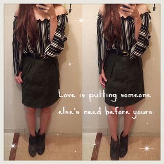 RETRO GIRL センターボタンスカート