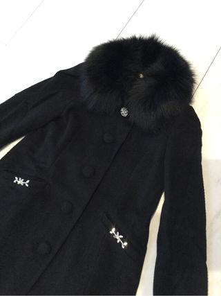 LAISSE PASSE ビジューファー襟コート