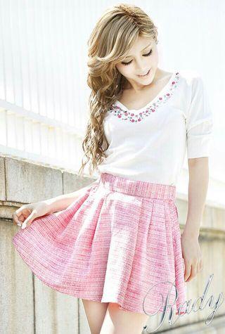 Rady ツイードスカート